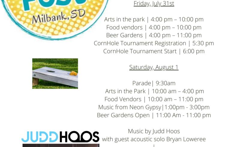 Milbank Farley Fest Weekend Schedule