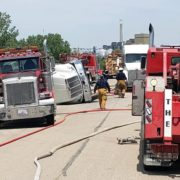 Fire and Rescue Squads Respond to Ethanol Spill