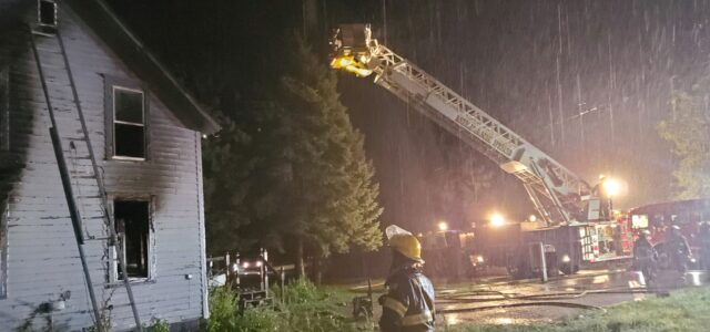 Milbank Fire and Rescue Battle House Fire