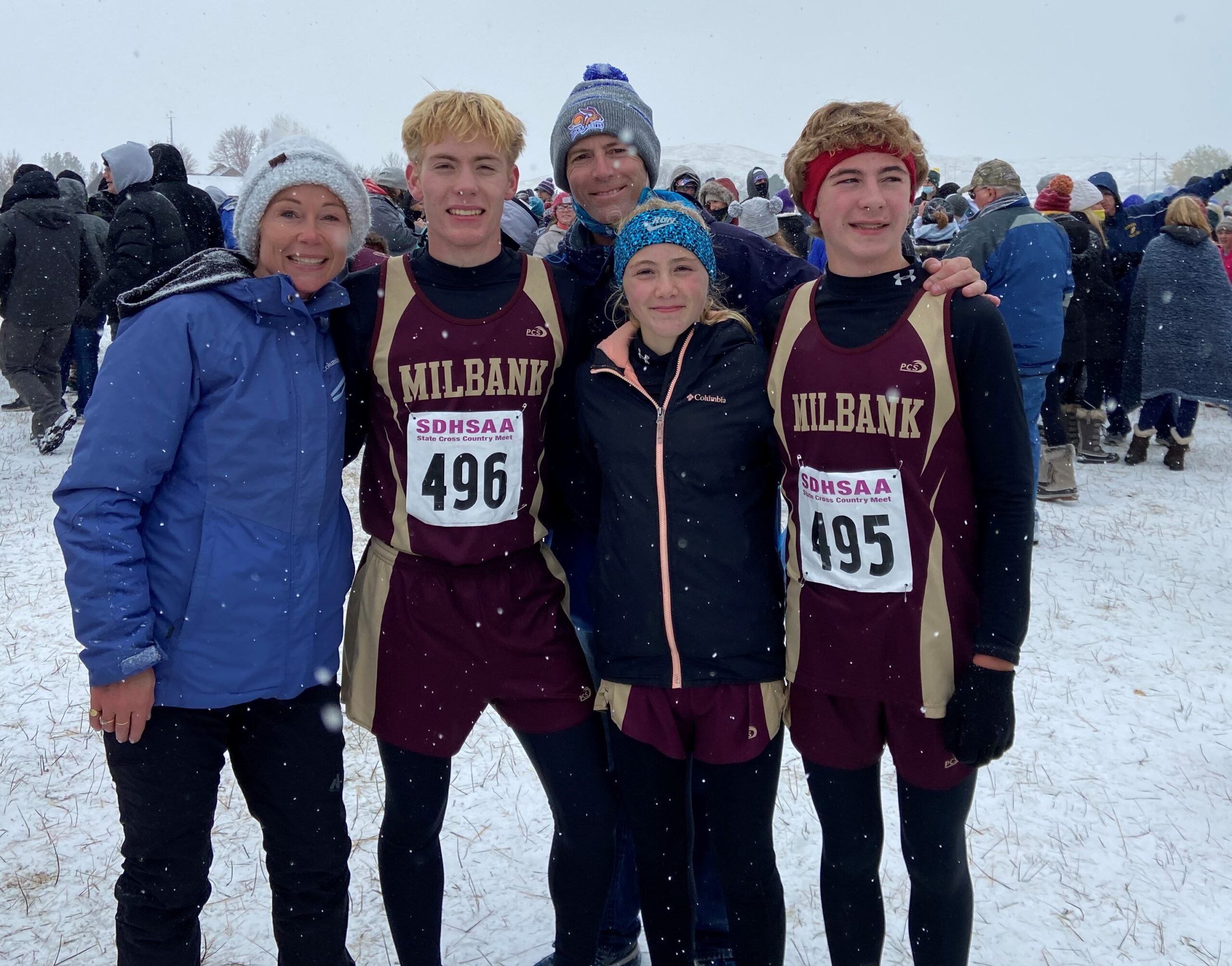 Nick and Ashlynn Batchelor Place at State Cross Country