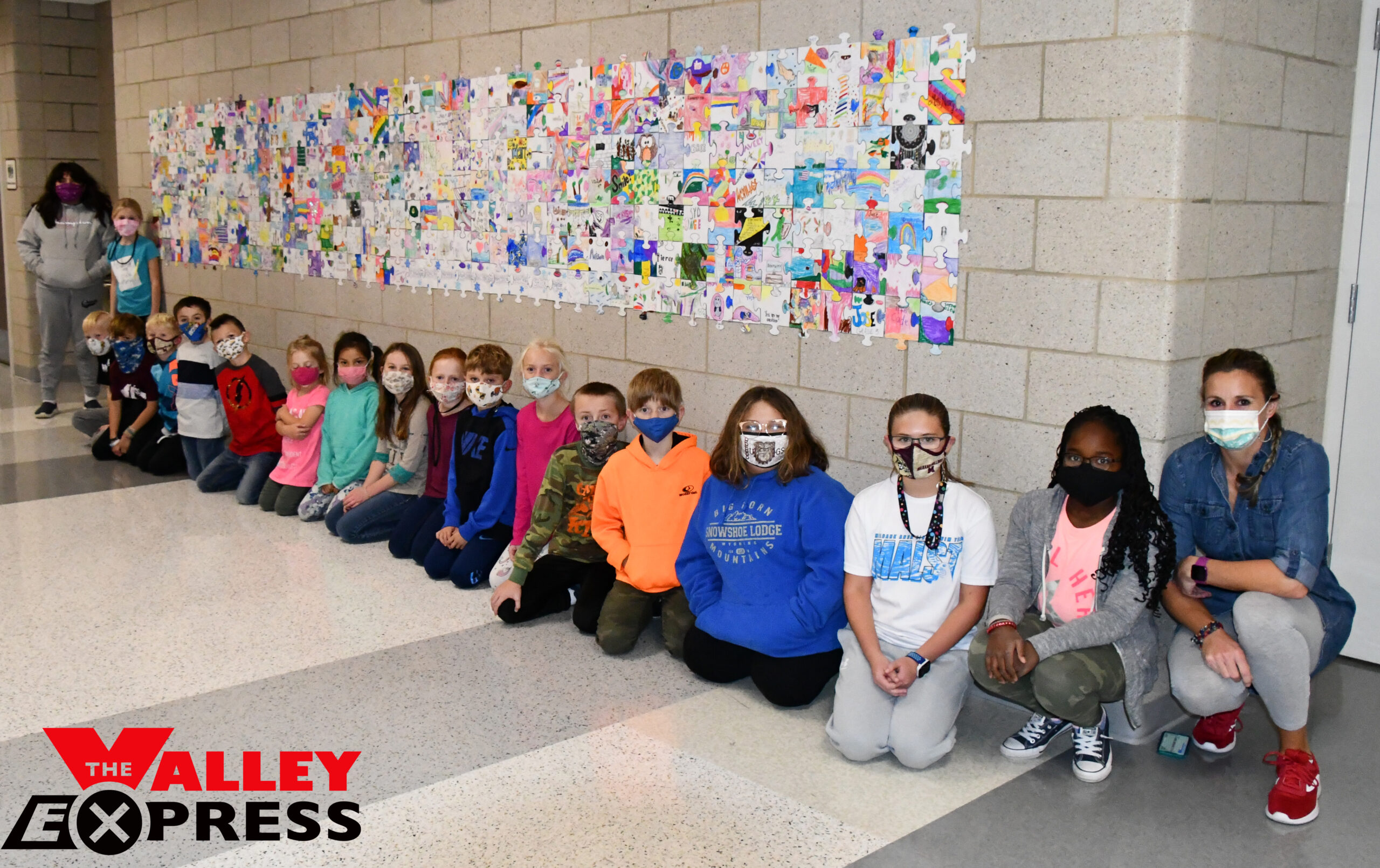 Puzzle-Piece Mural Brightens Milbank Elementary