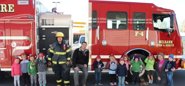 Milbank Fire Fighters Hold Outdoor School Presentations