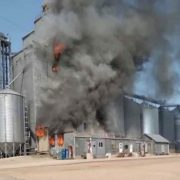 Clinton Elevator Engulfed in Flames