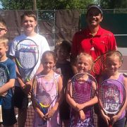 Professional Tennis Player Leads Camp for Milbank Youth